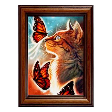 Мозаичная картина. Кошка с бабочками Color Kit