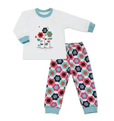 Пижама Цветы для девочки  LEO