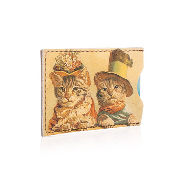 Чехол для карт 2 оделения Ретро коты  Eshemoda