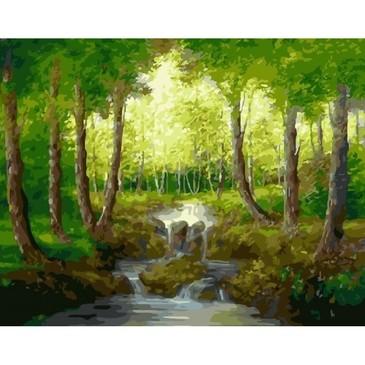 Картина по номерам. Лесной ручей Paintboy