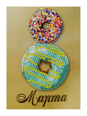 Алмазная открытка. С 8 Марта Донатс  Color Kit
