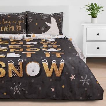 Комплект постельного белья Let it snow, поплин Этель