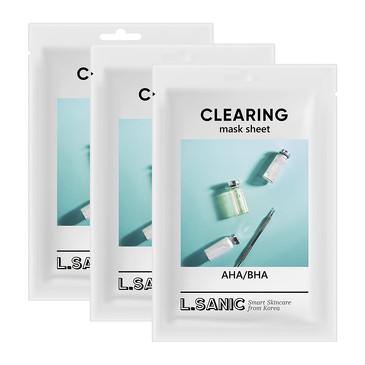 Набор масок с AHA/BHA кислотами для очищения пор (3х25 мл) L'Sanic