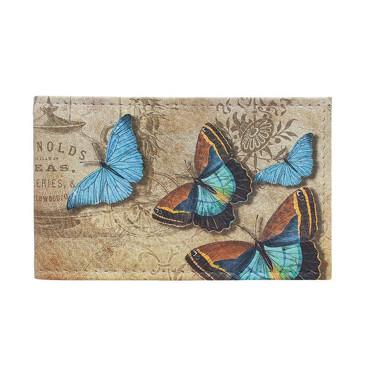 Визитница Голубые бабочки Eshemoda