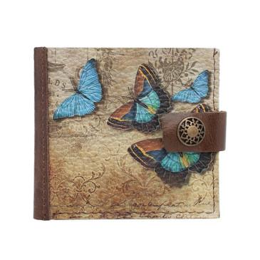 Портмоне Слим Голубые бабочки Eshemoda