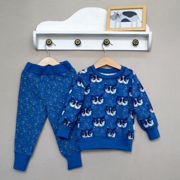 Комплект Космические коты (джемпер и брюки) Baby Boom