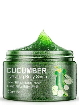 Очищающий скраб для тела с экстрактом зеленого огурца Bioaqua