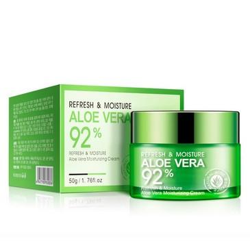 Освежающий и увлажняющий крем-гель для лица и шеи Aloe Vera  BioAqua