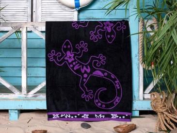 Полотенце пляжное Ящерка Black Toalla