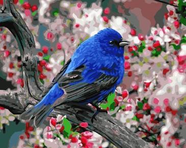 Картина по номерам на подрамнике. Птица в саду ВанГогВоМне
