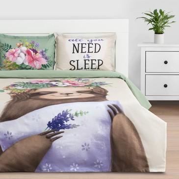 Комплект постельного белья Need is sleep, ранфорс Этель