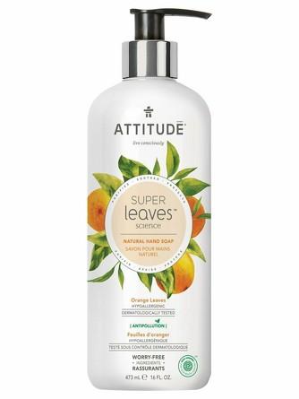 Жидкое мыло Super Leaves Листья апельсина (473 мл) Attitude