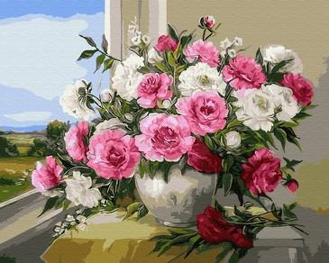 Картина по номерам на подрамнике. Прелесть, розы ВанГогВоМне