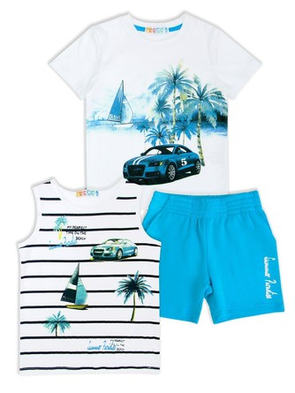 Комплект (футболка (2 шт) и шорты) Me&We