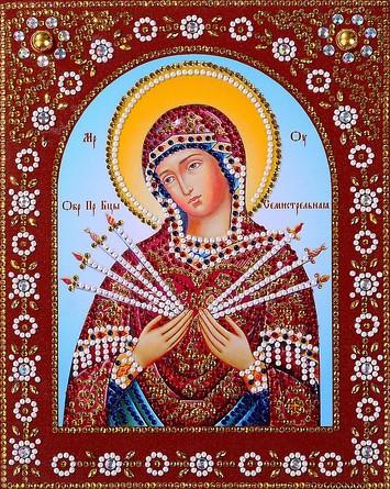 Икона с фигурными стразами. Пресвятая Богородица Семистрельная Color Kit