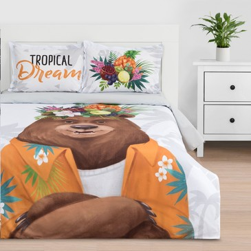 Комплект постельного белья Tropical dream, ранфорс Этель