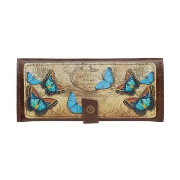 Кошелек классик Голубые бабочки Eshemoda