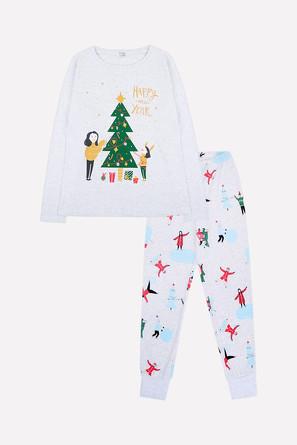 Комплект женский Новый год (джемпер и брюки) Trikozza