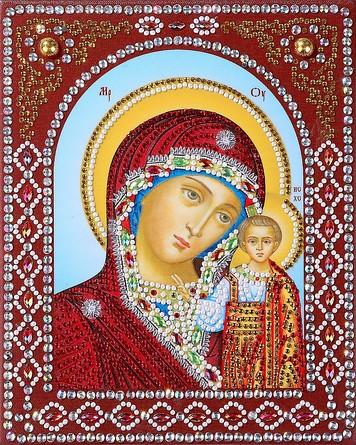Икона с фигурными стразами. Пресвятая Богородица Казанская Color Kit