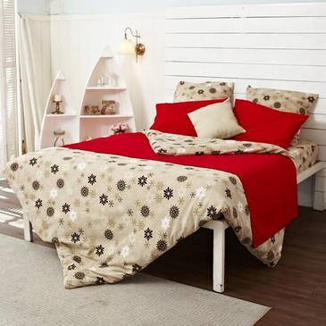 Комплект постельного белья Снежинки TM Textile