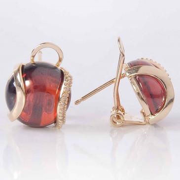 Серьги с гранатом Элана Lotus jewelry
