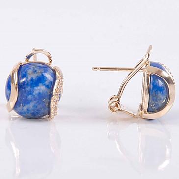 Серьги с лазуритом Элана Lotus jewelry