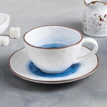 Чайная пара (чашка 250 мл и блюдце 16 см) Нептун Доляна