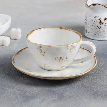 Чайная пара (чашка 250 мл и блюдце 16 см) Плутон Доляна