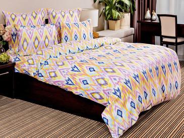 Комплект постельного белья Икат сатин Ночь Нежна