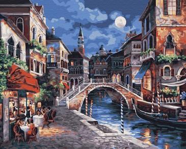 Картина по номерам на подрамнике. Ещё одна ночь в Венеции ВанГогВоМне