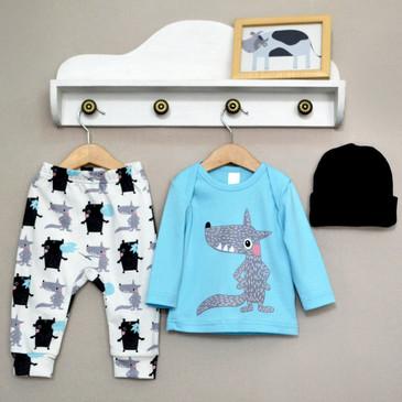 Комплект Бубль гум (лонгслив, штаны, шапка) Baby Boom